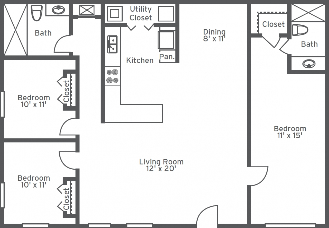 2 bedroom 2 bathroom floor plans three bedroom two and a half bath floor plans bathroom 24745