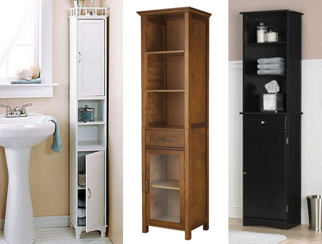 Bathroom Shelving Unit Smallamazing Narrow Cabinets 1 Tall Storage