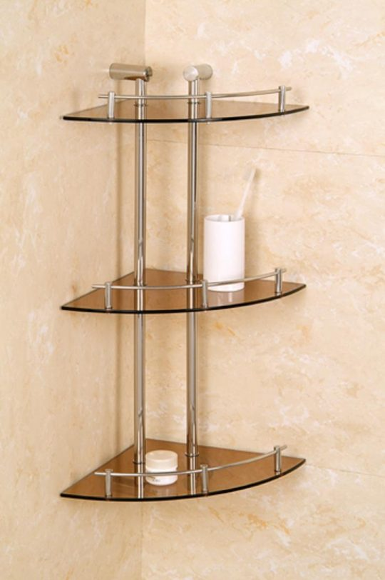 Permalink to 3 Tier Bathroom Glass Shelves