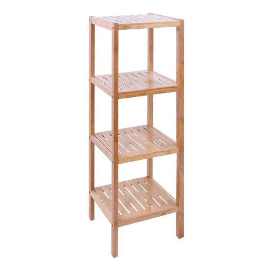 Permalink to 4 Tier Glass Bathroom Shelving Unit