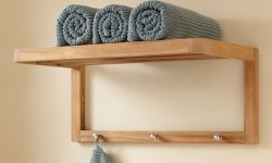 Bath Towel Shelf With Hooks