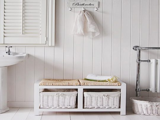 Permalink to Bathroom Bench White