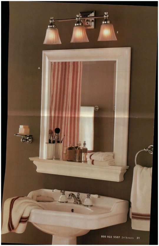 Permalink to Bathroom Mirror With Shelf And Hooks