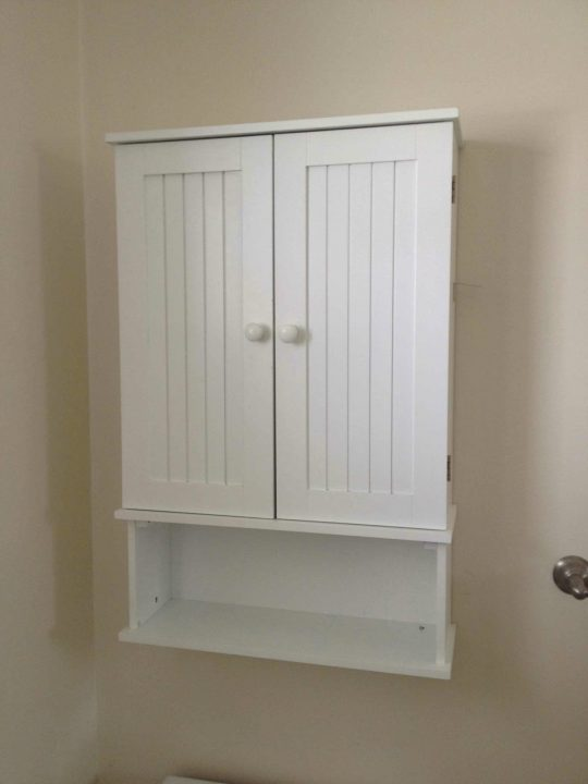 Permalink to Bathroom Wall Cabinet With Open Shelf