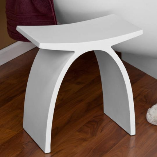 Permalink to Bathroom White Bench