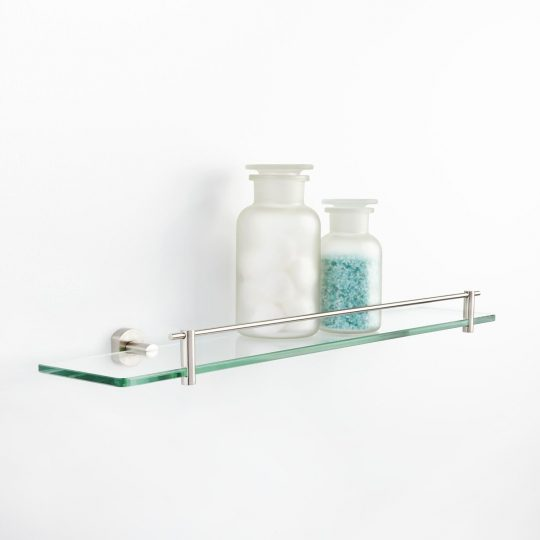 Permalink to Brushed Nickel And Glass Bathroom Shelves