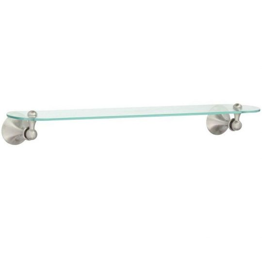 Permalink to Glass Bathroom Shelf Brushed Nickel
