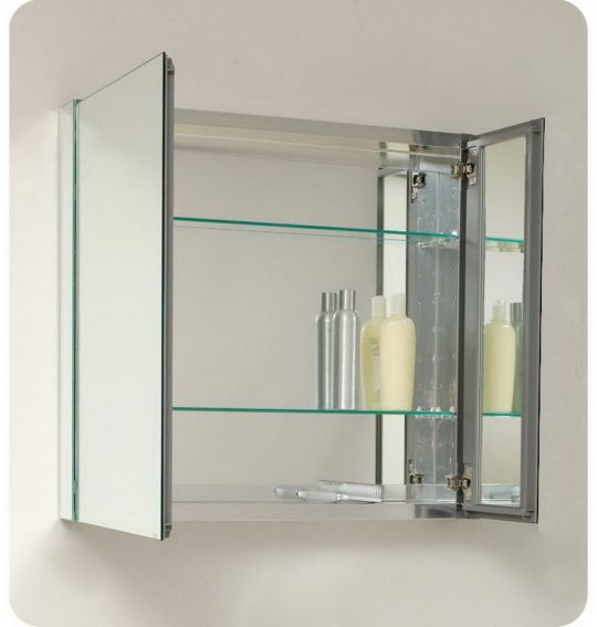Permalink to Glass Shelves For Bathroom Cabinet