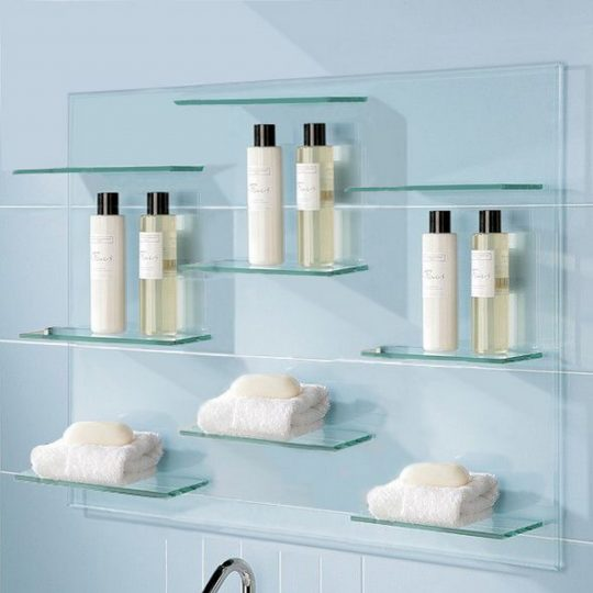 Permalink to Glass Shelves For Bathroom Walls