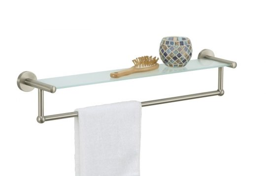 Permalink to Glass Shelves For Bathroom With Towel Bar