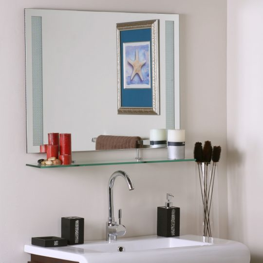 Permalink to Mirror With Shelves For Bathroom