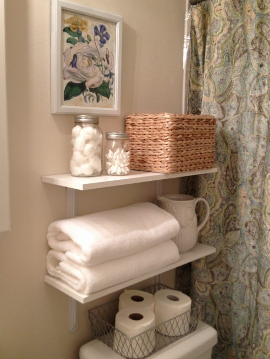 Permalink to Rattan Bathroom Wall Shelves