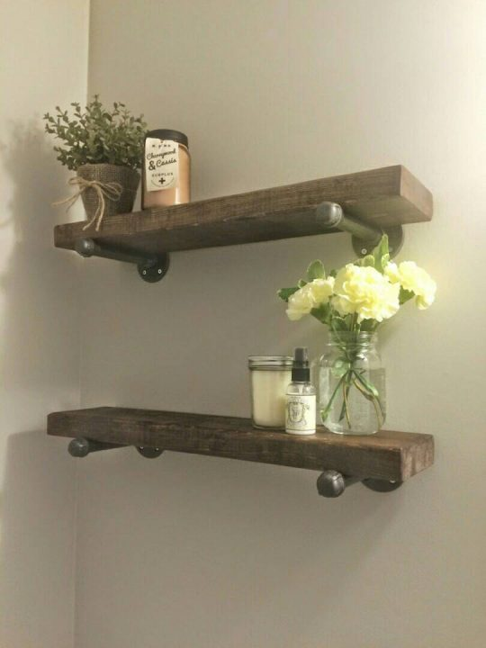 Permalink to Rustic Wooden Shelves For Bathroom