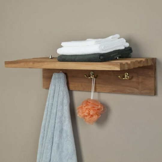 Permalink to Shelf With Hooks For Bathroom
