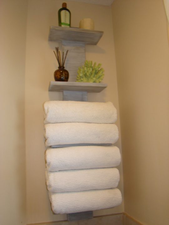 Permalink to Small Bathroom Shelves For Towels