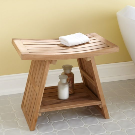 Permalink to Small White Bathroom Bench