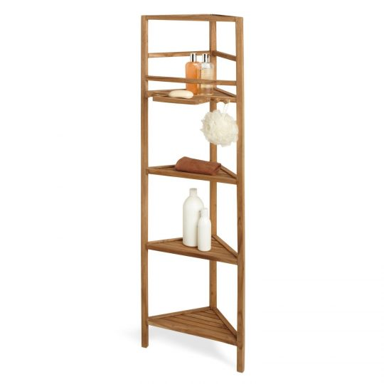 Permalink to Teak Bathroom Corner Shelves