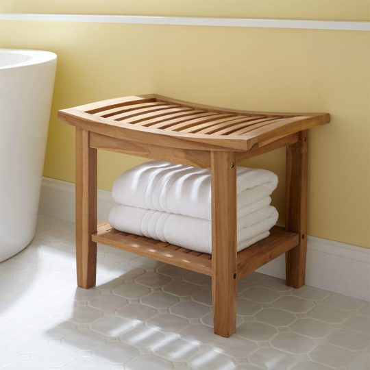 Permalink to Teak Shower Bench