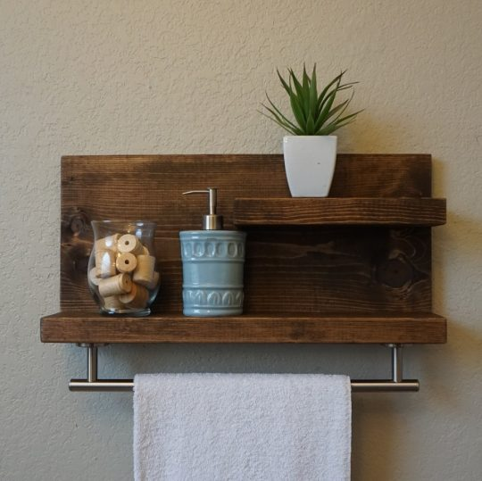 Permalink to Towel Racks With Shelves For Bathroom