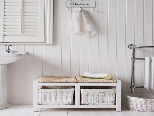 Permalink to White Bathroom Bench