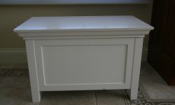 White Bathroom Storage Bench