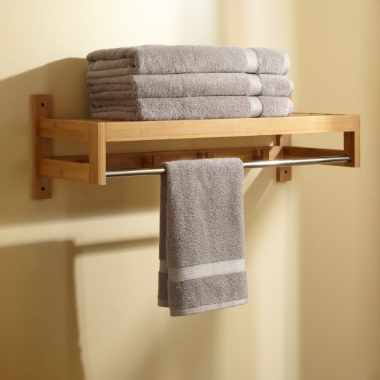 Permalink to Wooden Towel Shelves For Bathrooms